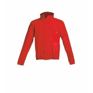 RAIN SUIT LOGO RED BLACK
