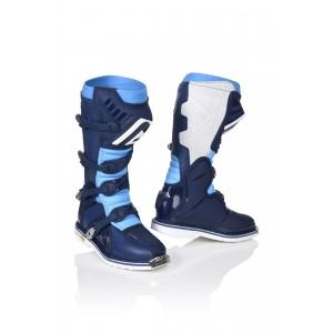 Мотоботы кроссовые X-PRO V. BOOTS BLUE WHITE