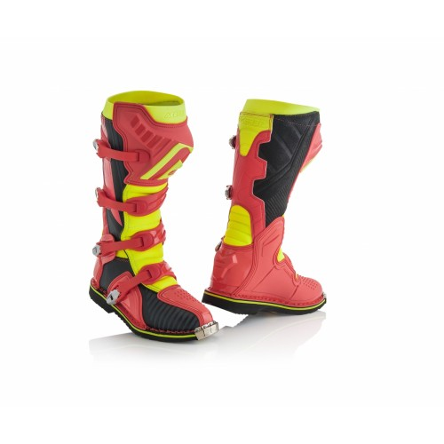 Мотоботы кроссовые X-PRO V. BOOTS RED YELLOW