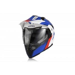 Шлем кроссовый FLIP FS-606 BIANCO BLUE ROSSO