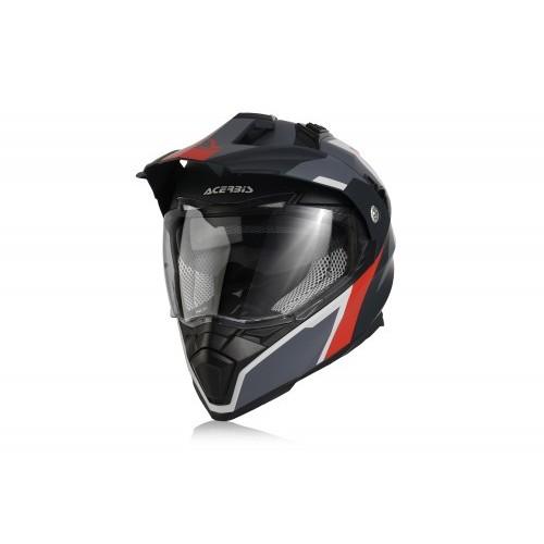 Шлем кроссовый FLIP FS-606 GREY RED