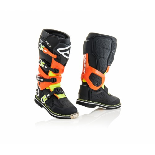 Мотоботы кроссовые X-ROCK NERO ARANCIO FLUO