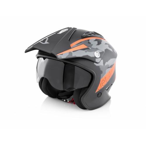 Шлем открытый JET ARIA BLACK ORANGE
