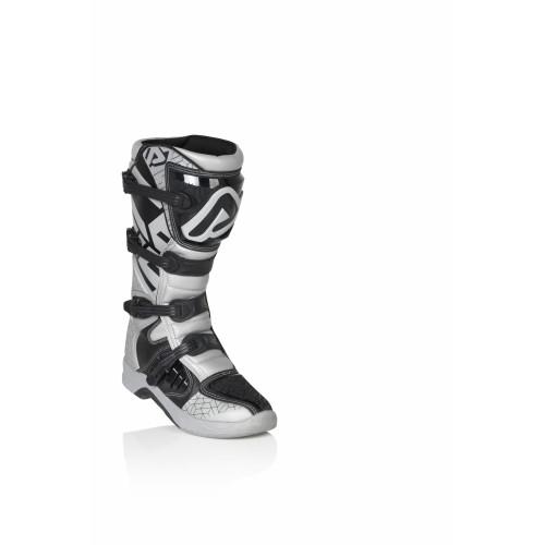 Мотоботы кроссовые X-TEAM BOOTS SILBER WHITE