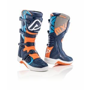 Мотоботы кроссовые X-TEAM BOOTS BLUE ORANGE