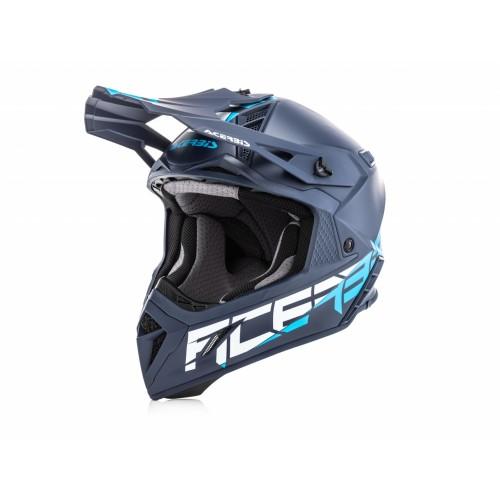 Шлем кроссовый STEEL CARBON BLUE