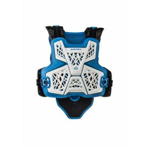 JUMP MX CHEST PROTECTOR WHITE BLUE