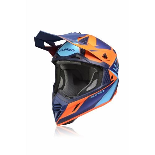 Шлем кроссовый X-TRACK HELMET BLUE ORANGE