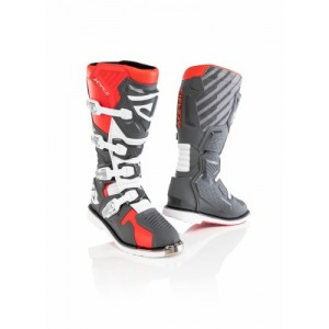X-RACE BOOTS RED GREY