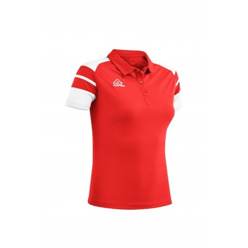 KEMARI WOMAN POLO RED WHITE