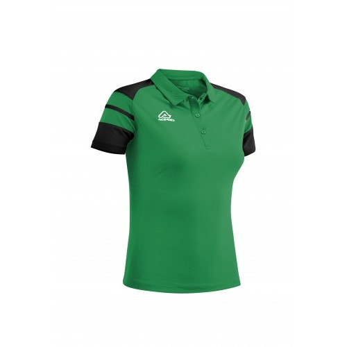 KEMARI WOMAN POLO GREEN BLACK