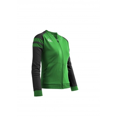 KEMARI WOMAN TRACKSUIT JACKET GREEN BLACK